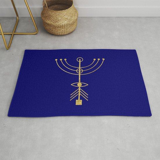 Sacred Geometry Letter Y Rug By