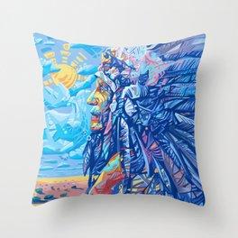 native american portrait 3 Throw Pillow