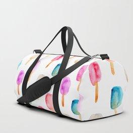 Popsicles || watercolor Duffle Bag