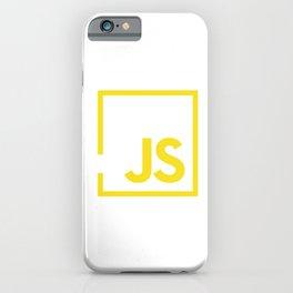 Javascript js iPhone Case