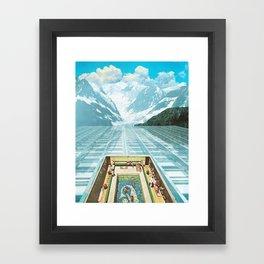 Glacial Bathing Framed Art Print