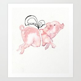 Piggie with Wings Art Print
