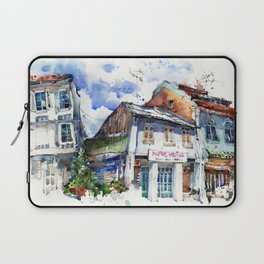 Shophouses  at Dickson Road, Little India Singapore. Laptop Sleeve