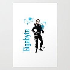 Gigabyte Art Print
