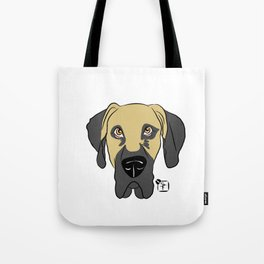 Faun Great Dane Face Tote Bag