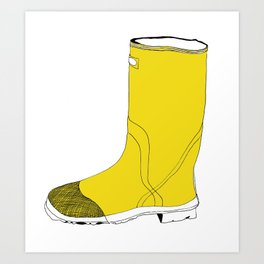 My favorite yellow boot Art Print