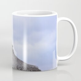 palm tree on the beach and in the sky, travel for leisure, Mallorca and enjoy Coffee Mug