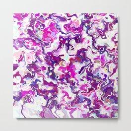 Purple Swirls Metal Print