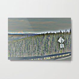 150 Miles to Denali Metal Print