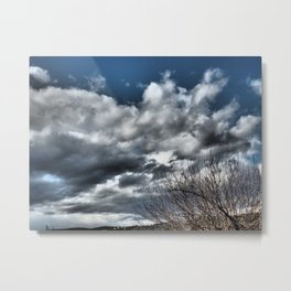 dramatic scenery with clouds Metal Print