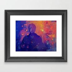 Black Blotter Framed Art Print