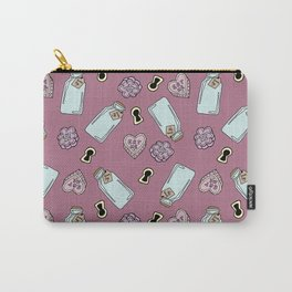 Eat Me, Drink Me -Pink Carry-All Pouch