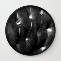leather Wall Clocks featuring leather by the rogue sparrow