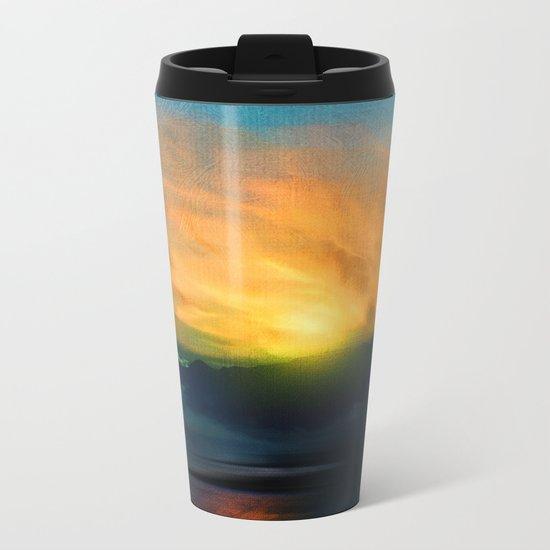 In the sunrise Metal Travel Mug