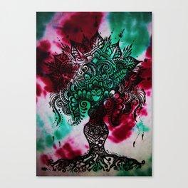 Tie-Dye Mehndi Goddess print Canvas Print