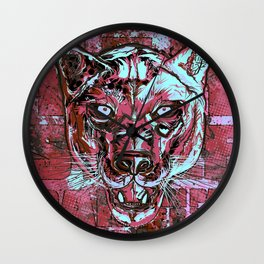 Panther Style. Wall Clock