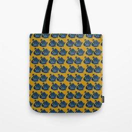 Crown Lynn Swans (Mustard) Tote Bag