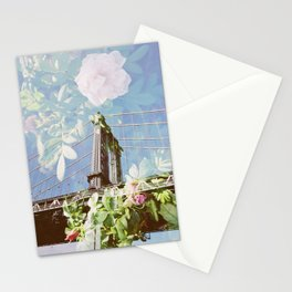 film double, manhattan bridge Stationery Cards