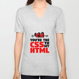 CSS and HTML Unisex V-Neck