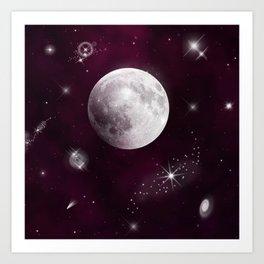 Night Sky in Purple Art Print