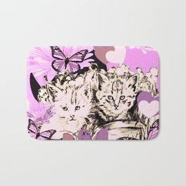Frieda's Baby Cats in Pink Bath Mat