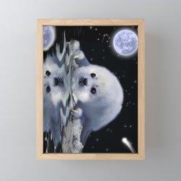 Destiny - Harp Seal Pup & Ice Floe Framed Mini Art Print