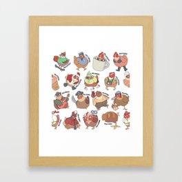 Conoce Tus Pollos Framed Art Print