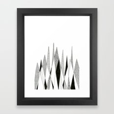 Spikes and Pines (pen on paper) Framed Art Print