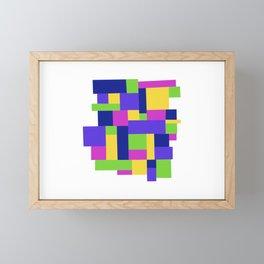 Happy colors quadrille Framed Mini Art Print