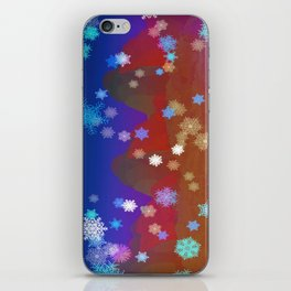 Mountains and Snowflakes iPhone Skin