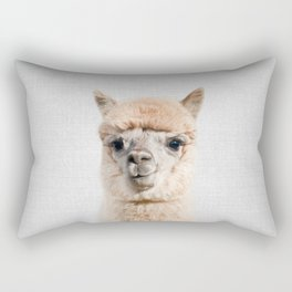 Alpaca - Colorful Rectangular Pillow
