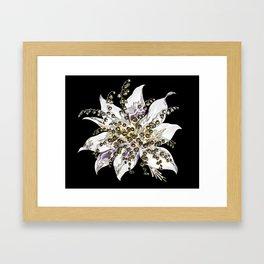 Painted Flower on Black Background Framed Art Print