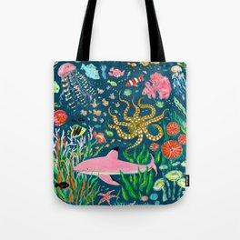 Pink Shark Tote Bag