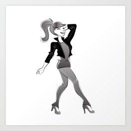 fashion girl illustration Art Print