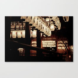 Lanterns at Night Canvas Print