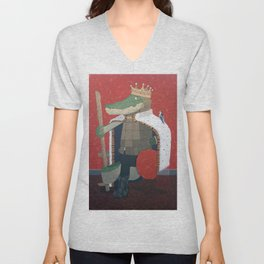 Crocodile King (KNG) Unisex V-Neck