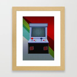 Retro Arcade Joystick Video Game Framed Art Print