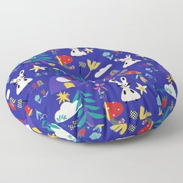 Tortoise and the Hare is one of Aesop Fables blue Floor Pillow