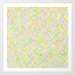 Pick Up Sticks and Patches Art Print