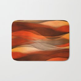 """Sea of sand and caramel waves"" Bath Mat"