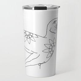 PAINT MY HUMMINGBIRD INK ILLUSTRATION Travel Mug