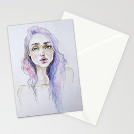 Lavender baby Stationery Cards