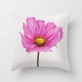 Watercolour Painting of a Cosmos Throw Pillow