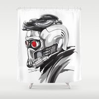 star lord Shower Curtains featuring Star Lord by Dik Low