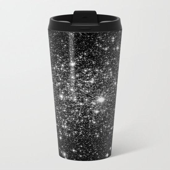 staRs Black & White Metal Travel Mug