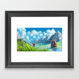 Howls Moving Castle Framed Art Print