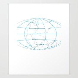 Funny Pangea Matters Super Continent Art Print