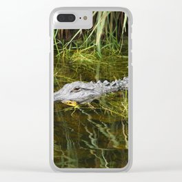 Sitting Here And Wait Clear iPhone Case