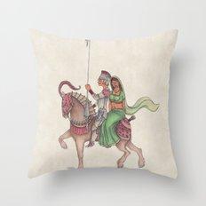 Indian Knight Throw Pillow