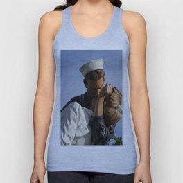Kissing Sailor And Nurse Portrait Unisex Tank Top